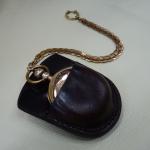 Schutztasche für eine Taschenuhr Schuhmacher Lothar Müller